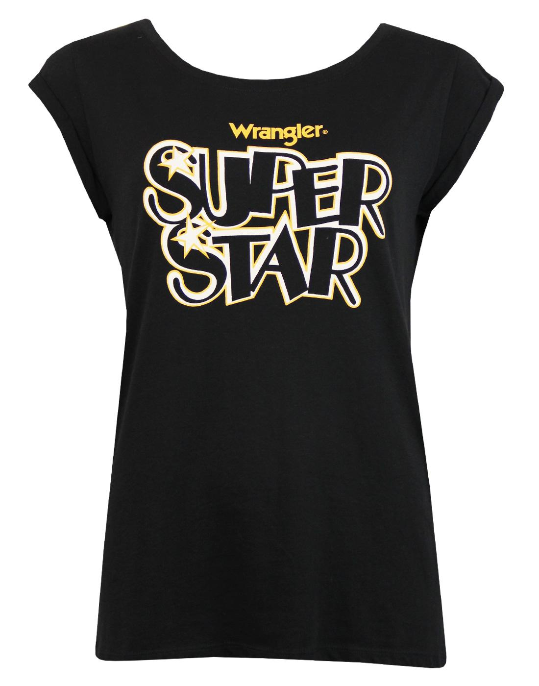 Super Star WRANGLER Retro 70s Cap Sleeve T-Shirt
