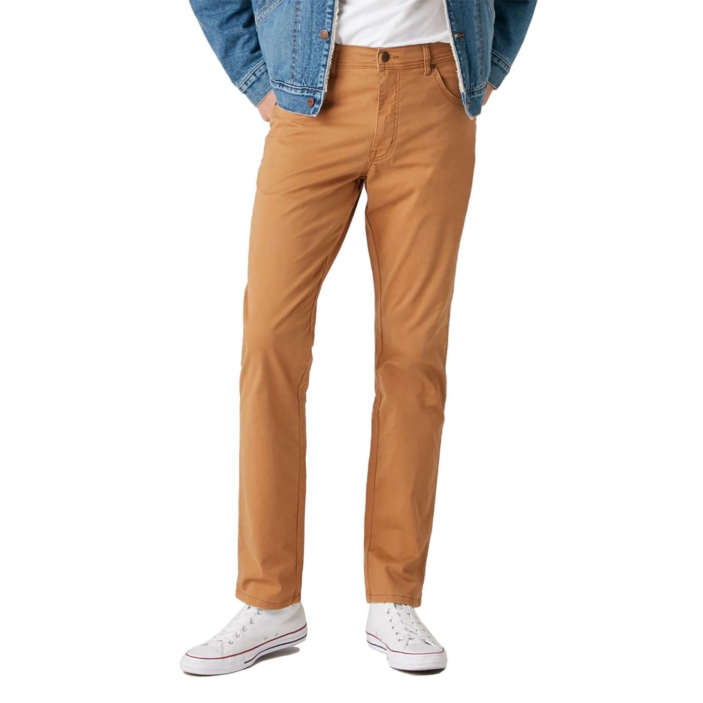 Texas WRANGLER Mens Retro Slim Trousers BISCUIT