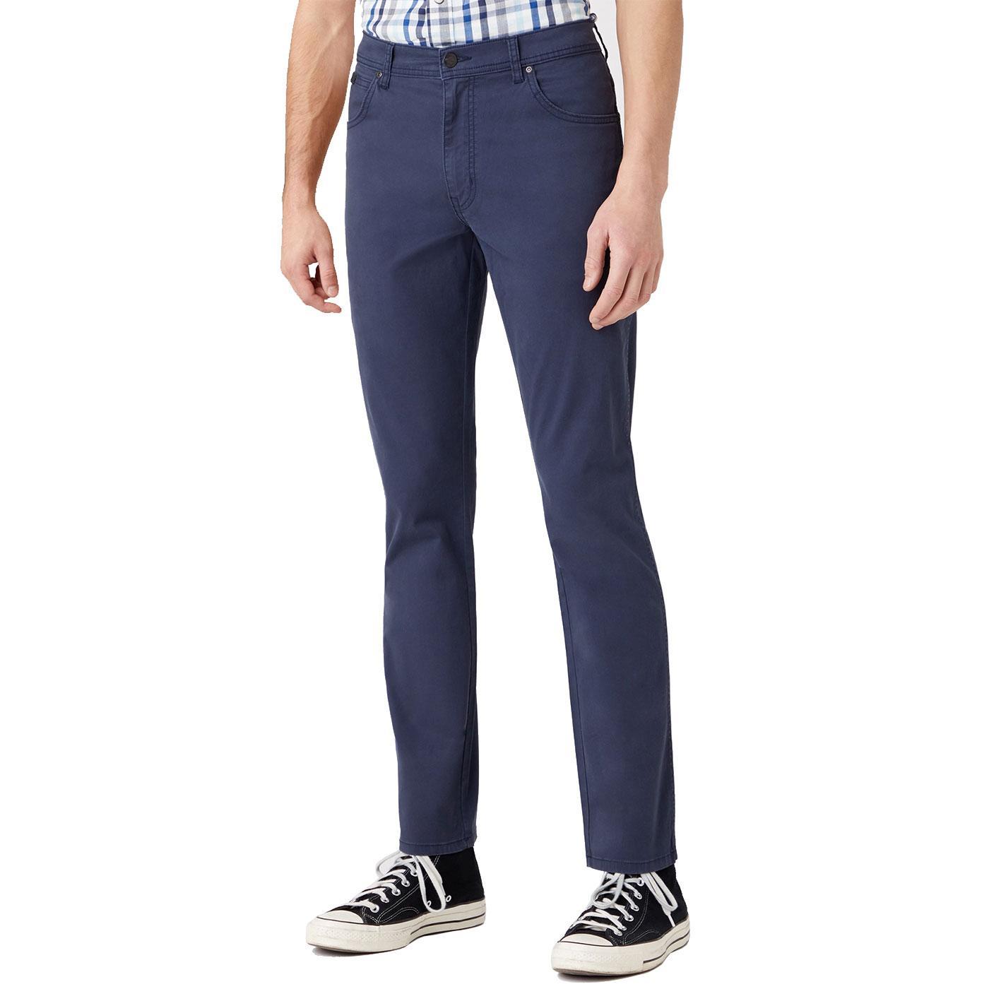 Texas WRANGLER Mens Retro Slim Leg Trousers NAVY