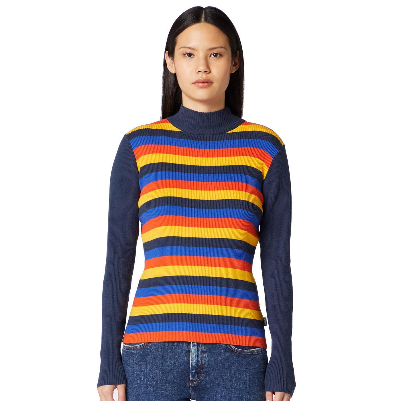 WRANGLER Women's High Neck Knitted Ribbed Jumper N