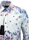 Flora Print 1 LIKE NO OTHER Retro Mod Floral Shirt