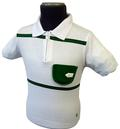 AERTEX MENS KERRY RETRO MOD INDIE POLO ZIP SHIRT