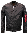 ALPHA INDUSTRIES SLIM MA1 BOMBER JACKET BLACK MOD