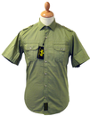 ALPHA INDUSTRIES Retro Mod S/S Military Army Shirt