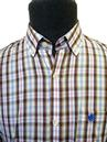 'Jefferson' BARACUTA Retro Mod Mens Checked Shirt
