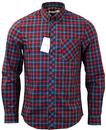 BEN SHERMAN POP TARTAN 60S MOD RETRO SHIRT