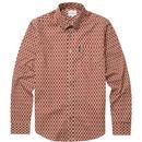ben sherman abstract print shirt burnt orange