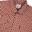 BEN SHERMAN Mens Retro 70s Abstract Print Shirt BO