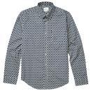 ben sherman abstract print shirt dark blue