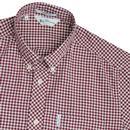 Modernist BEN SHERMAN 60s Archive Check Shirt WINE
