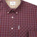 BEN SHERMAN Men's Retro Mod House Check Shirt RUST