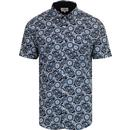 BEN SHERMAN Retro Paisley Print Shirt DARK BLUE