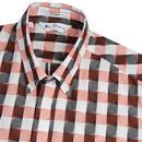 BEN SHERMAN Archive Princeton Check Shirt ORANGE