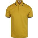 Romford BEN SHERMAN Mod Tipped Polo Shirt (Yellow)