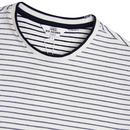 BEN SHERMAN Retro Tonal Stripe Longline Tee (SW)