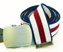 BEN SHERMAN Stripe Canvas Retro Indie Mod Belt (W)