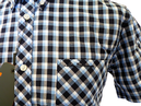 BEN SHERMAN Retro 60s Multi Gingham Mod Shirt (CN)