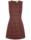BRIGHT & BEAUTIFUL MANDY RETRO 60S MOD CHECK DRESS