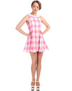 BRIGHT & BEAUTIFUL NIA MOD GINGHAM BABY DOLL DRESS