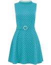Ruth BRIGHT & BEAUTIFUL 60s Mod Polka Dot Dress