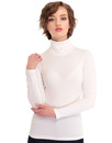 Tova BRIGHT & BEAUTIFUL 60s Mod Turtle Neck Top