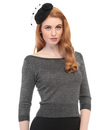 COLLECTIF BARDOT RETRO VINTAGE 50S SPARKLY JUMPER