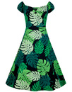 Dolores COLLECTIF Retro 50s Tahiti Palm Doll Dress