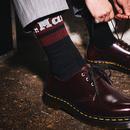 DR MARTENS Retro Athletic Logo Socks Black/Cherry