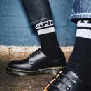 DR MARTENS Womens Athletic Logo Socks Black/White