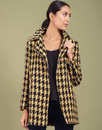 Caia DARLING Retro Sixties Mod Dogtooth Woven Coat