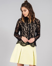 DARLING SIBYLLA RETRO VINTAGE WOMENS LACE BLOUSE