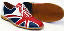 Tommy Northern Soul Mod Union Jack Bowling Shoes