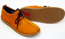Dusty Retro Sixties Mod Corded Suede Womens Shoes