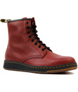 DR MARTENS NEWTON RETRO MOD LEATHER 8 EYELET BOOTS