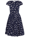 Claudia EMILY AND FIN Retro 50s Plane Print Dress