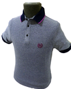 Ruis FLY53 Mens Retro Marl Effect Indie Mod Polo B