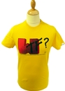 WTF FLY53 Mens Retro Indie Crew Neck Logo T-Shirt