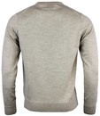 Mullen FARAH Retro Mod 1960s Crew Neck Wool Jumper
