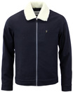 FARAH OTLEY RETRO MOD SHEARING COLLAR JACKET