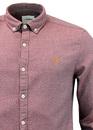 Wes FARAH Retro Mod 1960s Mens Space Dye Shirt