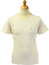 Alvin FARAH VINTAGE Scoop Neck Flecked Retro Tee