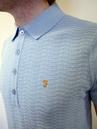 The Fox FARAH VINTAGE Textured Front Mod Mens Polo
