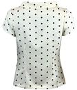 Garland FEVER Retro Sixties Mod Polka Dot Bow Top
