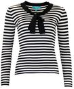 FEVER LACANAU RETRO 1960S MOD STRIPE BOW TOP