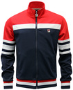 FILA VINTAGE COURTO RETRO BLOCK STRIPE TRACK TOP