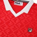 Carter FILA VINTAGE Retro 70s Football Polo Top