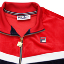 Harry FILA VINTAGE Mens Retro 70s Velour Track Top