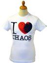 I Love Chaos FLY53 Retro Seventies Indie Logo Tee