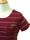 Quaker FLY53 Mens Retro Indie Mod Stripe T-Shirt
