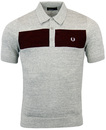 FRED PERRY RETRO MOD 1960S KNITTED PANEL POLO